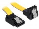 Cablu SATA III 6 Gb/s unghi sus-jos, clips metalic 20 cm, Delock 82819