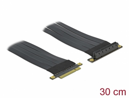 Riser Card PCI Express x8 la x8 + cablu flexibil 30cm, Delock 85766