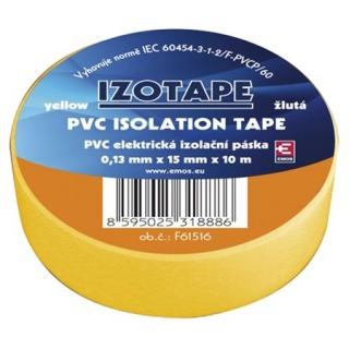 Banda izolatoare PVC 15mm/10m Galben, ZVPEP05