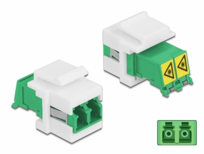 Modul keystone LC Duplex M-M cu protectie laser flip in interior, Delock 86833