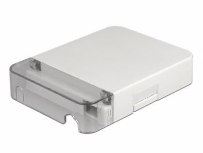 Cutie pentru 1 x cupla fibra optica SC Simplex / LC Duplex Alba, Delock 86844