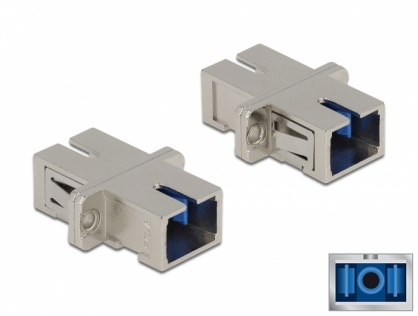 Cupla fibra optica SC Simplex - SC Simplex Single mode M-M metal, Delock 86872