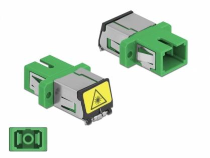 Cupla fibra optica cu protectie laser SC Simplex Single-mode M-M Verde, Delock 86887