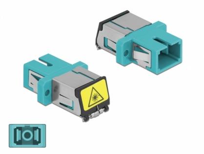 Cupla fibra optica cu protectie laser SC Simplex Multi-mode M-M Aqua, Delock 86890