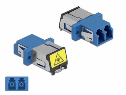 Cupla fibra optica cu protectie laser LC Duplex Single-mode M-M Blue, Delock 86898