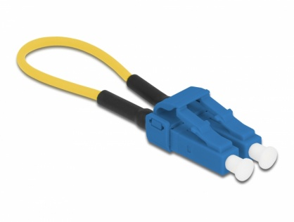 Adaptor fibra optica loopback LC / UPC singlemode, Delock 86924