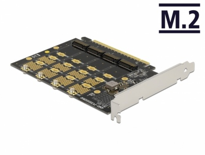 PCI Express cu 4 x NVMe M.2 Key M - Bifurcation, Delock 89017