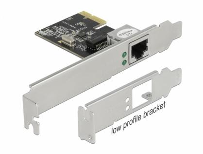 Placa de retea PCI Express Gigabit + low profile, Delock 89189