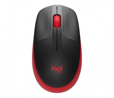 Mouse wireless M190 Negru/Rosu, LOGITECH 910-005908