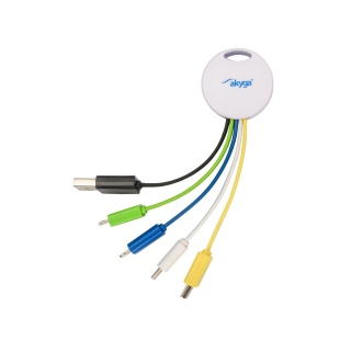 Cablu de incarcare USB-A la Lightning/USB type C/micro USB/mini USB, AK-AD-51