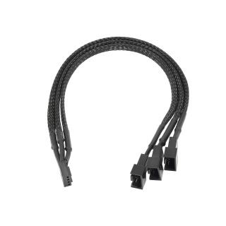Cablu alimentare ventilator 4 pini la 2 x4 pini + 1 x 3 pini 25cm, AK-CA-65