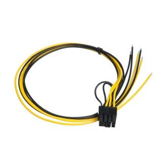 Cablu de alimentare PCIe 6+2 pini la fire deschise 45cm, AK-SC-20