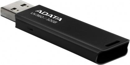 Stick USB 3.2 UV360 32GB Negru, ADATA AUV360-32G-RBK