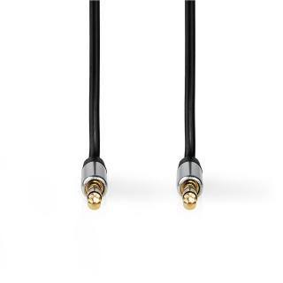 Cablu audio jack stereo 2.5mm la jack stereo 3.5mm 1m, Nedis CAGP21250BK10