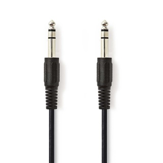 Cablu audio jack 6.35mm T-T 5m, Nedis CAGP23000BK50
