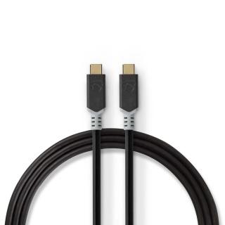 Cablu USB 3.2-C Gen 2 T-T 20Gb/s 5A/100W 1m, Nedis CCBW64020AT10