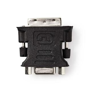 Adaptor DVI-I Dual Link 24+5 pini la VGA T-M, Nedis CCGP32900BK