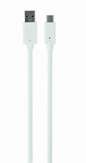 Cablu USB 3.0 tip A la tip C 1m T-T Alb, Gembird CCP-USB3-AMCM-1M-W