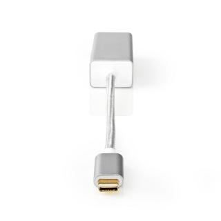 Adaptor USB 3.2-C Gen 1 la Gigabit LAN Argintiu, Nedis CCTB64950AL02