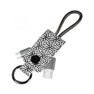 Cablu USB 2.0-A la USB-C 0.22m pentru breloc T-T Negru, Logilink CU0164