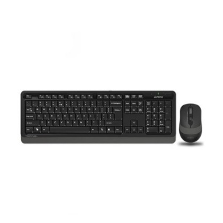 KIT tastatura + mouse wireless A4Tech Fstyler Negru/Gri, FG1010 Grey (include timbru verde 0.75 lei)