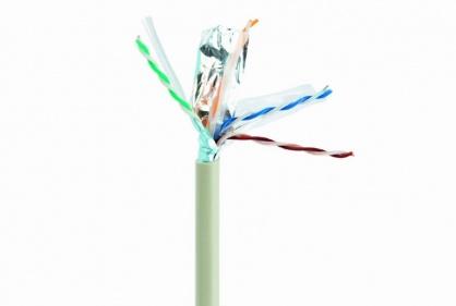 Rola cablu de retea Cat6 FTP Cu 305m fir solid Gri, Gembird FPC-6004-SO