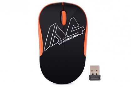 Mouse wireless optic A4Tech Negru/Orange, G3-300N-BO (include timbru verde 0.1 lei)