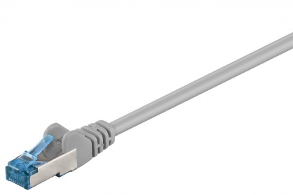 Cablu de retea RJ45 CAT 6A S/FTP (PiMF) 50m Gri, Goobay 94908
