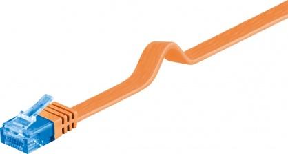 Cablu de retea RJ45 CAT 6A flat UTP 1m Orange, Goobay 96310