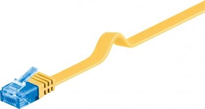 Cablu de retea RJ45 CAT 6A flat UTP 1m Galben, Goobay 96307