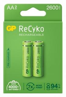 Set 2 acumulatori ReCyko 2600mAh AA (LR6) 1.2V NiMH, GP Batteries
