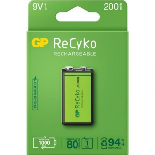 Acumulator ReCyco 200mAh 9V NiMH, GP Batteries