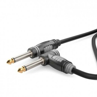 Cablu audio jack 6.35mm mono T-T unghi 90 grade 3m, HBA-6M6A-0300