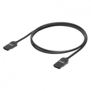 Cablu HDMI cu Ethernet Slim 4K60Hz HDR T-T 0.75m Negru, HI-HDSL-0075