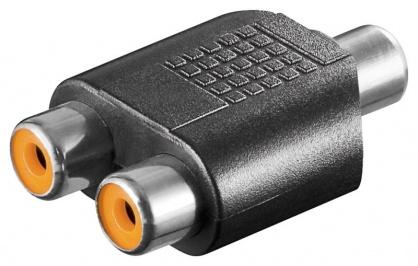 Adaptor RCA la 2 x RCA M-M, kjr-45