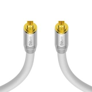 Cablu audio optic Toslink T-T 2m Alb, KOM-TW400020