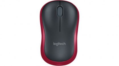 Mouse Logitech M185 Wireless Mouse, Red
