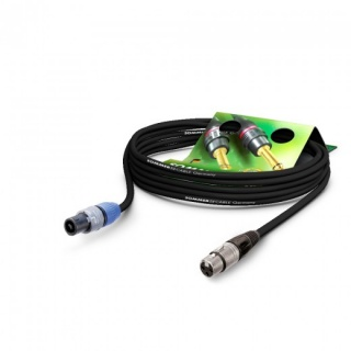 Cablu audio speakon la XLR 3 pini 10m Negru, NEUTRIK ME22-225-1000-SW