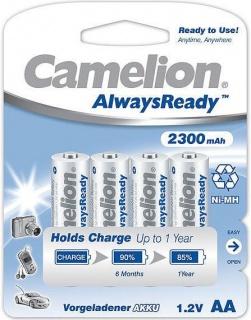 Set 4 Acumulatori Camelion Always Ready AA R6 2300mAh 1,2V Ni-MH