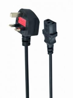 Cablu de alimentare UK la IEC C13 5A 1.8m Negru, Gembird PC-187
