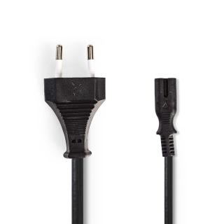 Cablu spiralat Euro la IEC C7 2m Negru, Nedis PCGP11042BK20
