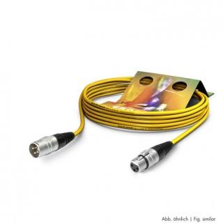 Cablu prelungitor XLR 3 pini T-M Galben 15m, SGHN-1500-GE