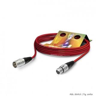 Cablu prelungitor XLR 3 pini T-M Rosu 15m, SGHN-1500-RT