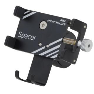 Suport smartphone pentru bicicleta, Spacer SPBH-METAL-BK