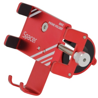 Suport smartphone pentru bicicleta, Spacer SPBH-METAL-RED