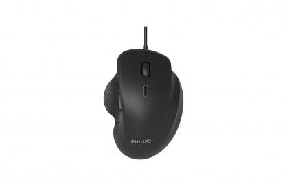 Mouse optic USB Negru, Philips SPK7444