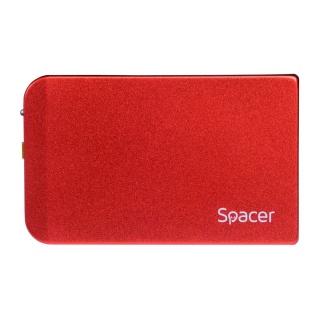 """Rack extern pentru HDD SATA 2.5"""" la USB 3.0 Rosu, Spacer SPR-25611R"""