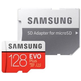 Card de memorie Samsung MicroSDXC EVO Plus 128GB clasa 10 + adaptor SD, Samsung MB-MC128HA/EU