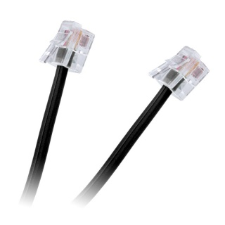 Cablu telefon RJ11 2m Negru, TEL0033A-2
