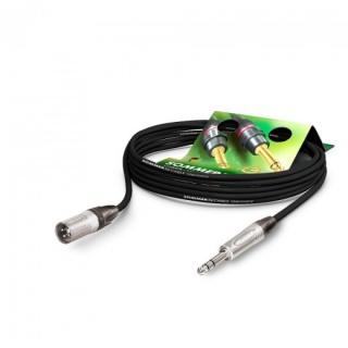 Cablu audio XLR 3 pini la jack stereo 6.35mm T-T 10m, NEUTRIK SGN4-1000-SW